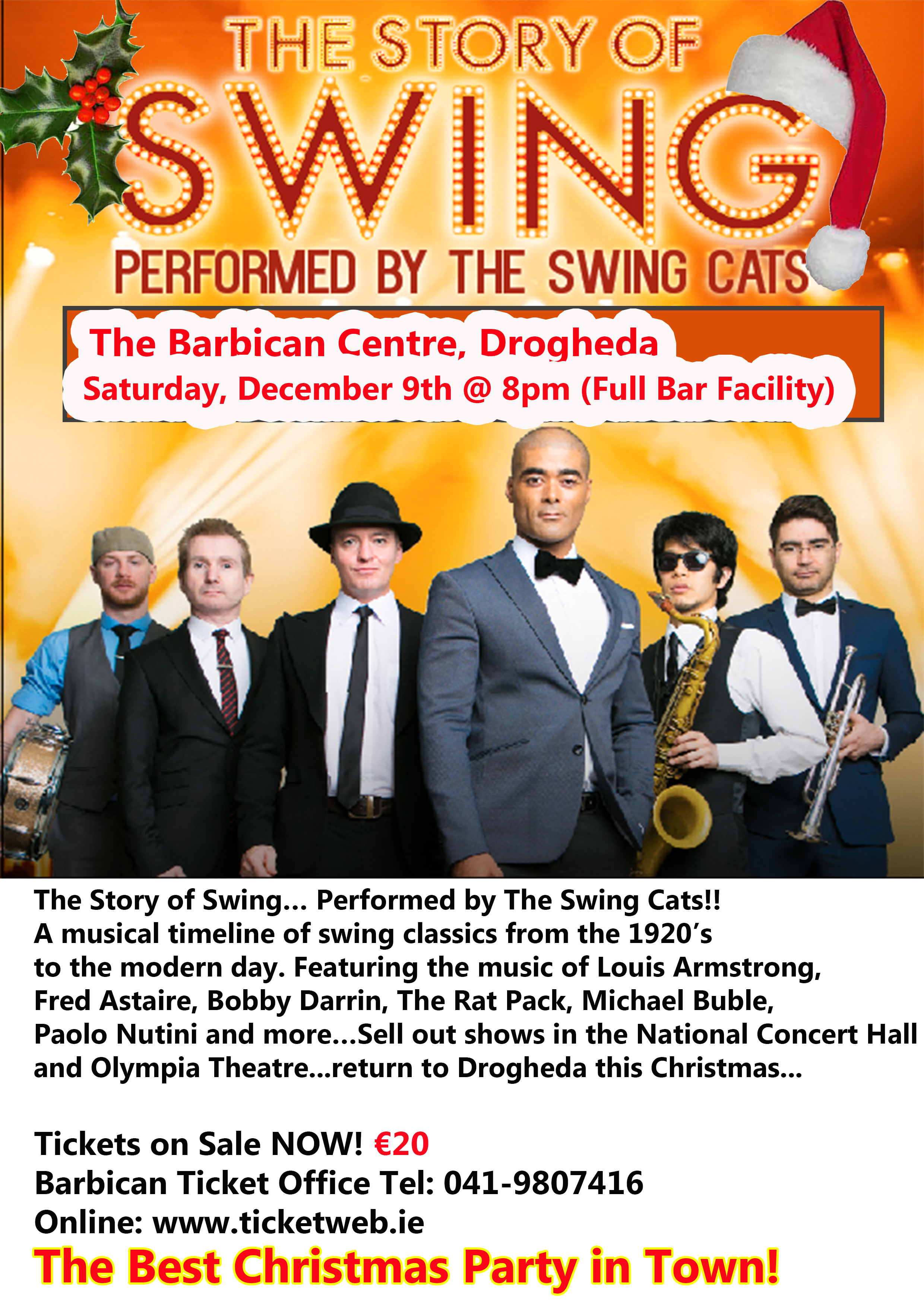 The Swing Cats Christmas Show - The Barbican Centre