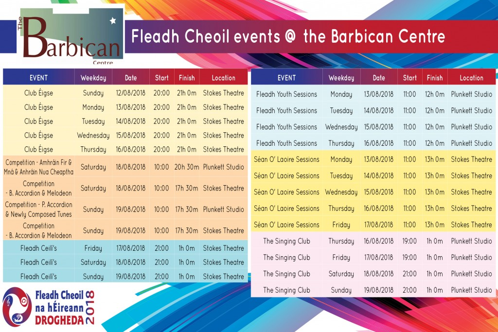 Fleadh Events Website
