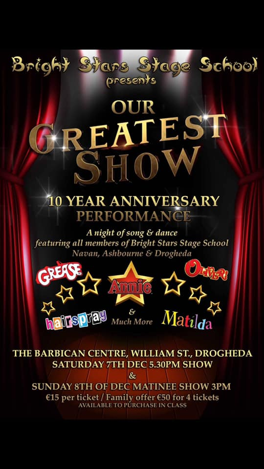 'Our Greatest Show' by Bright Stars Stage School