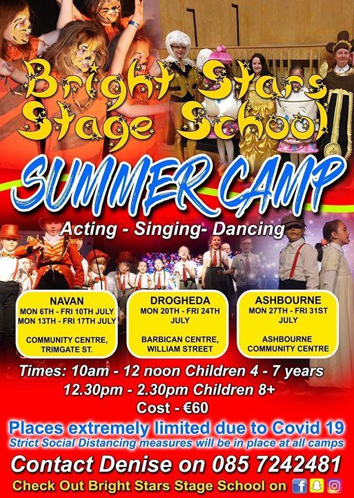 Bright Star Stage School Summer Camp 2020